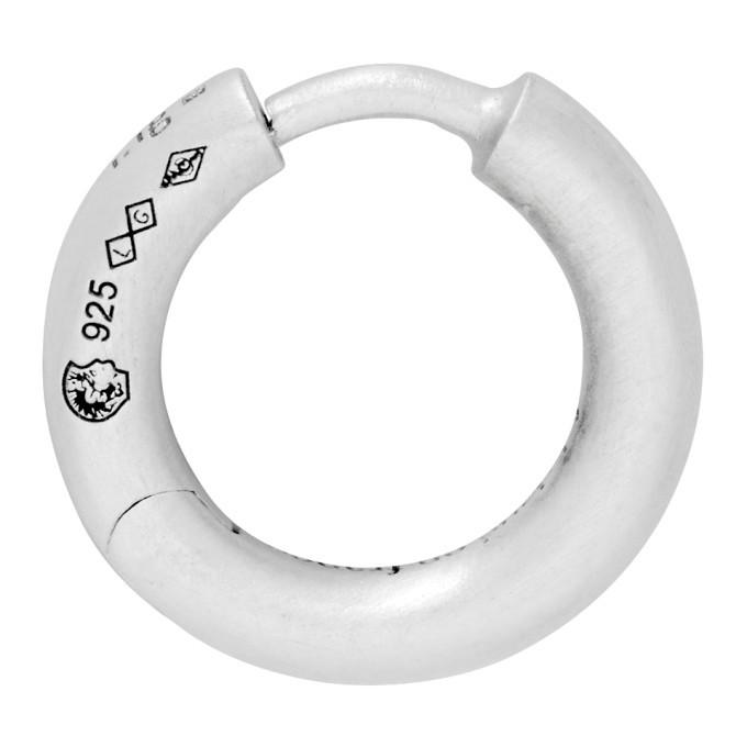 Photo: Le Gramme Silver Slick Brushed La 1.5 Grammes Bangle Single Earring