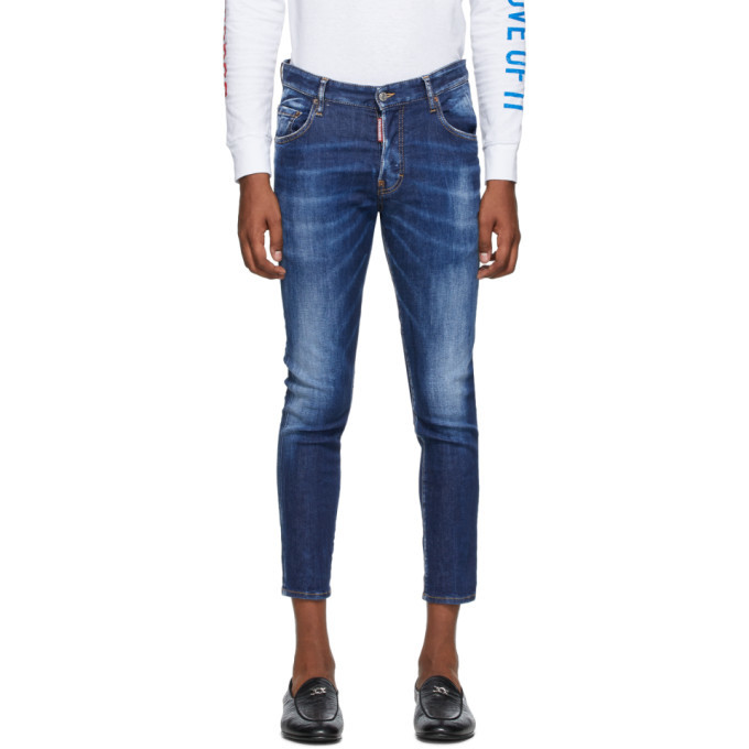 Photo: Dsquared2 Blue Basic Dark Wash Skater Jeans
