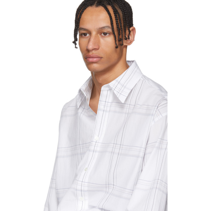 Raf Simons White Elastic Back Shirt