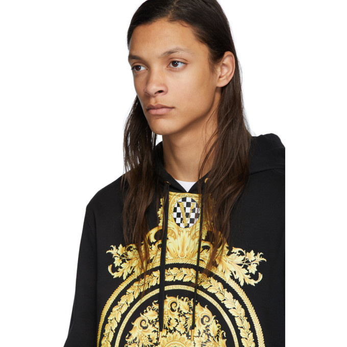 Versace Black and Gold Le Pop Classique Hoodie