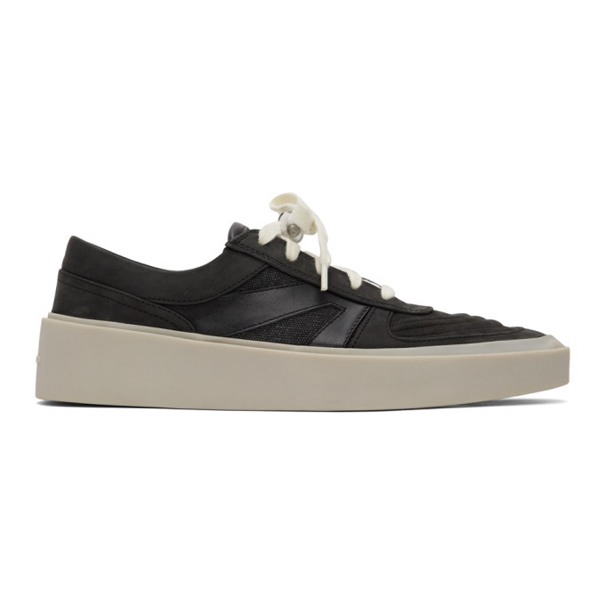 Photo: Fear of God Black and Grey Skate Low Sneakers