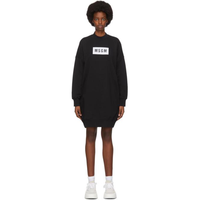Photo: MSGM Black Shirt Short Dress