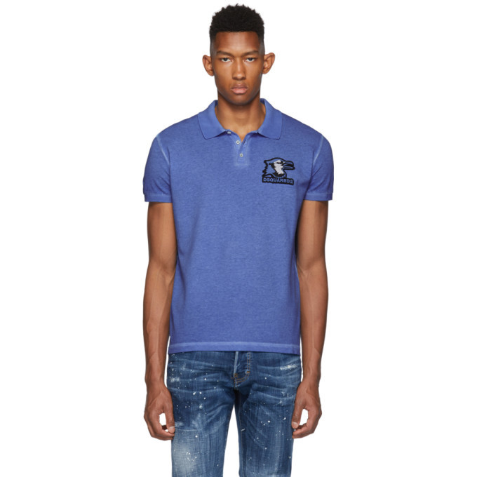 Photo: Dsquared2 Blue Over Classic Polo