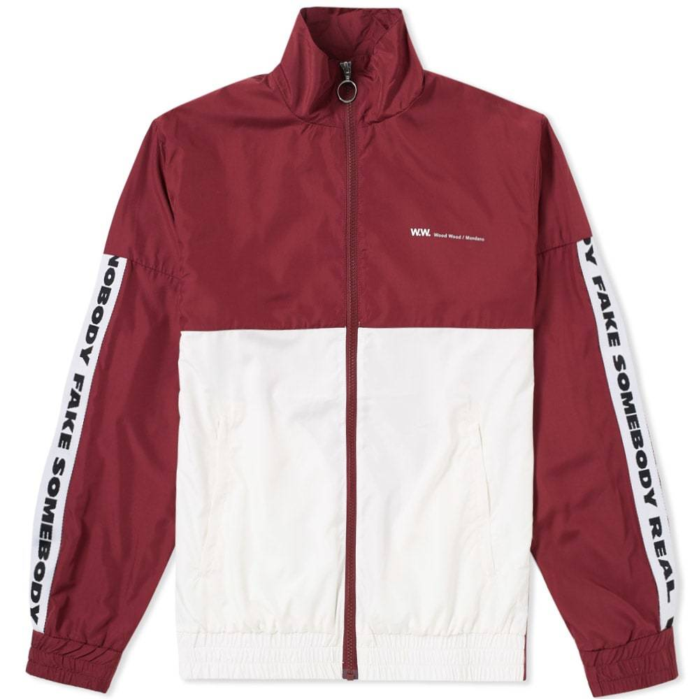 Wood Wood Homer Taped Track Jacket Red