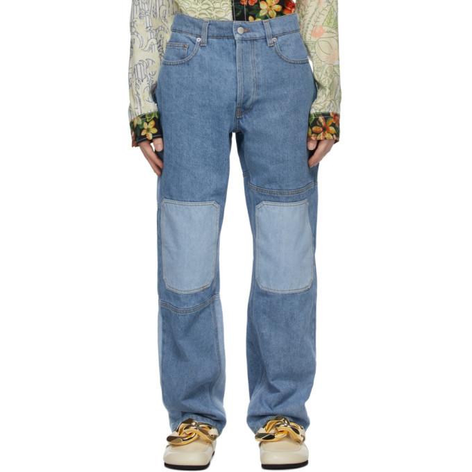 Photo: JW Anderson Blue Patchwork Workwear Jeans