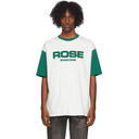 Martine Rose White and Green Contrast T-Shirt