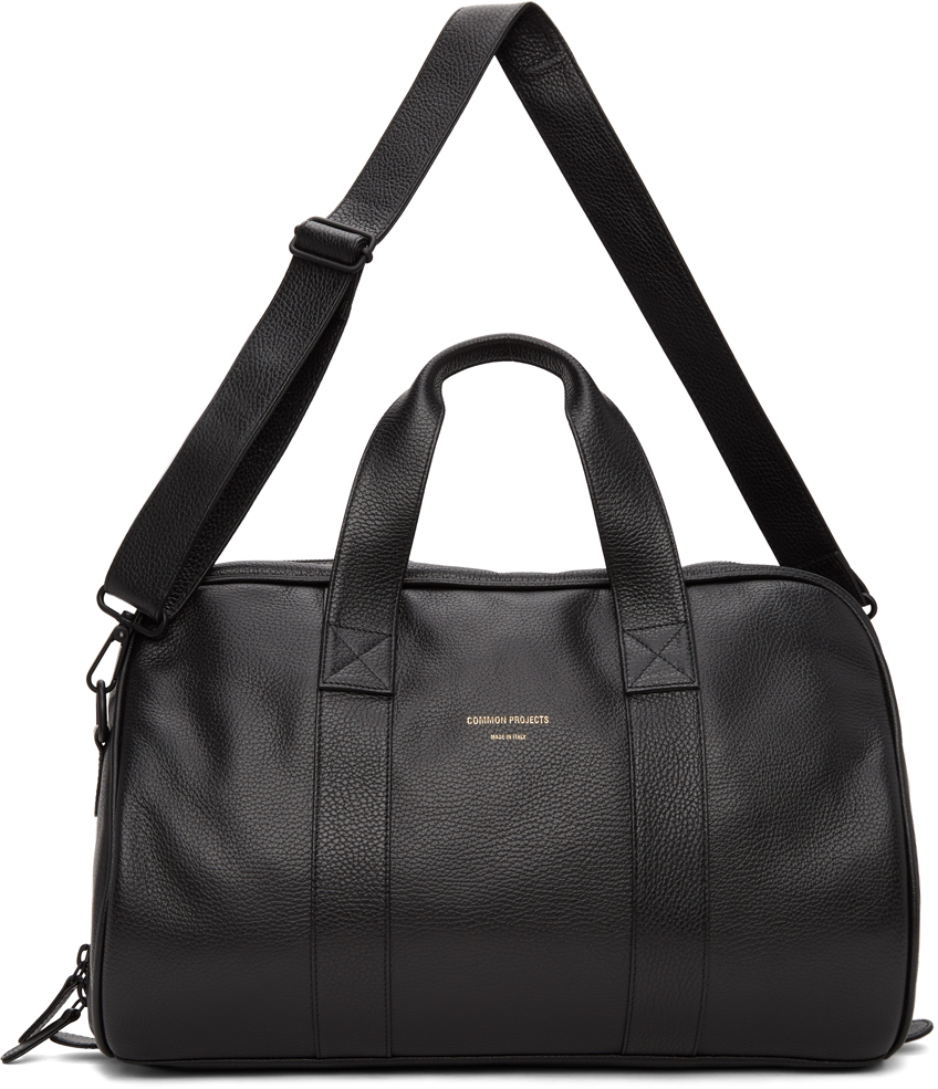 Photo: Common Projects Black Pebble Grained Duffle Bag