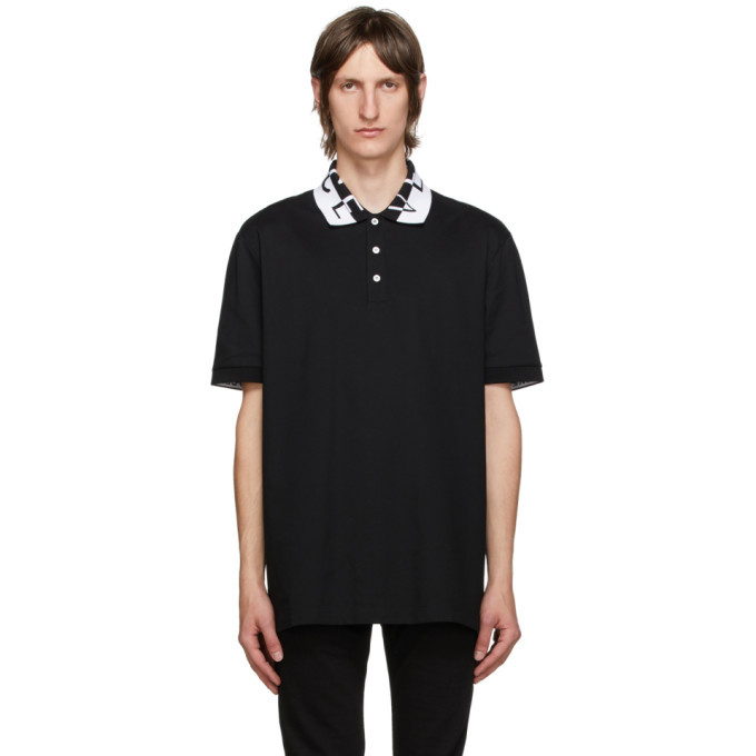 Photo: Versace Black Jacquard Logo Polo