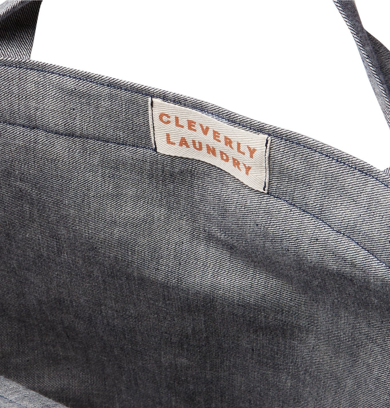 Cleverly Laundry - Two-Tone Denim Laundry Bag - Blue