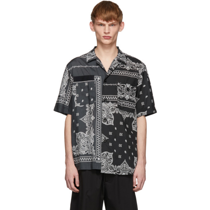 Photo: Sacai Black Bandana Print Shirt