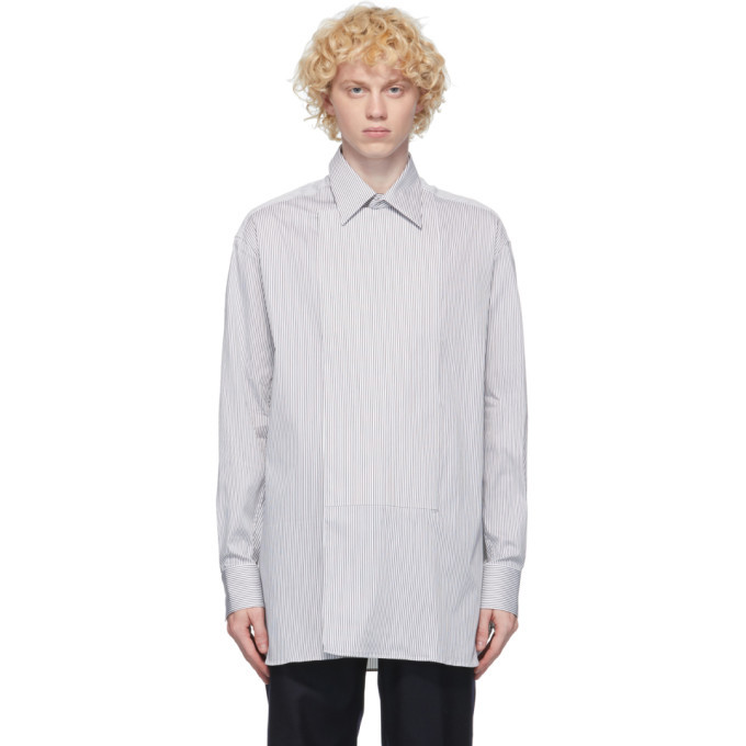 Dunhill Black and White Wrap Shirt