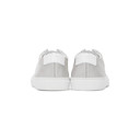Common Projects White and Grey Mesh Achilles Sneakers