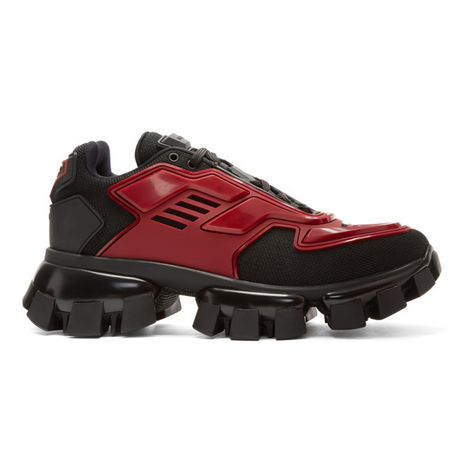 Photo: Prada Black and Red Cloudbust Thunder Sneakers