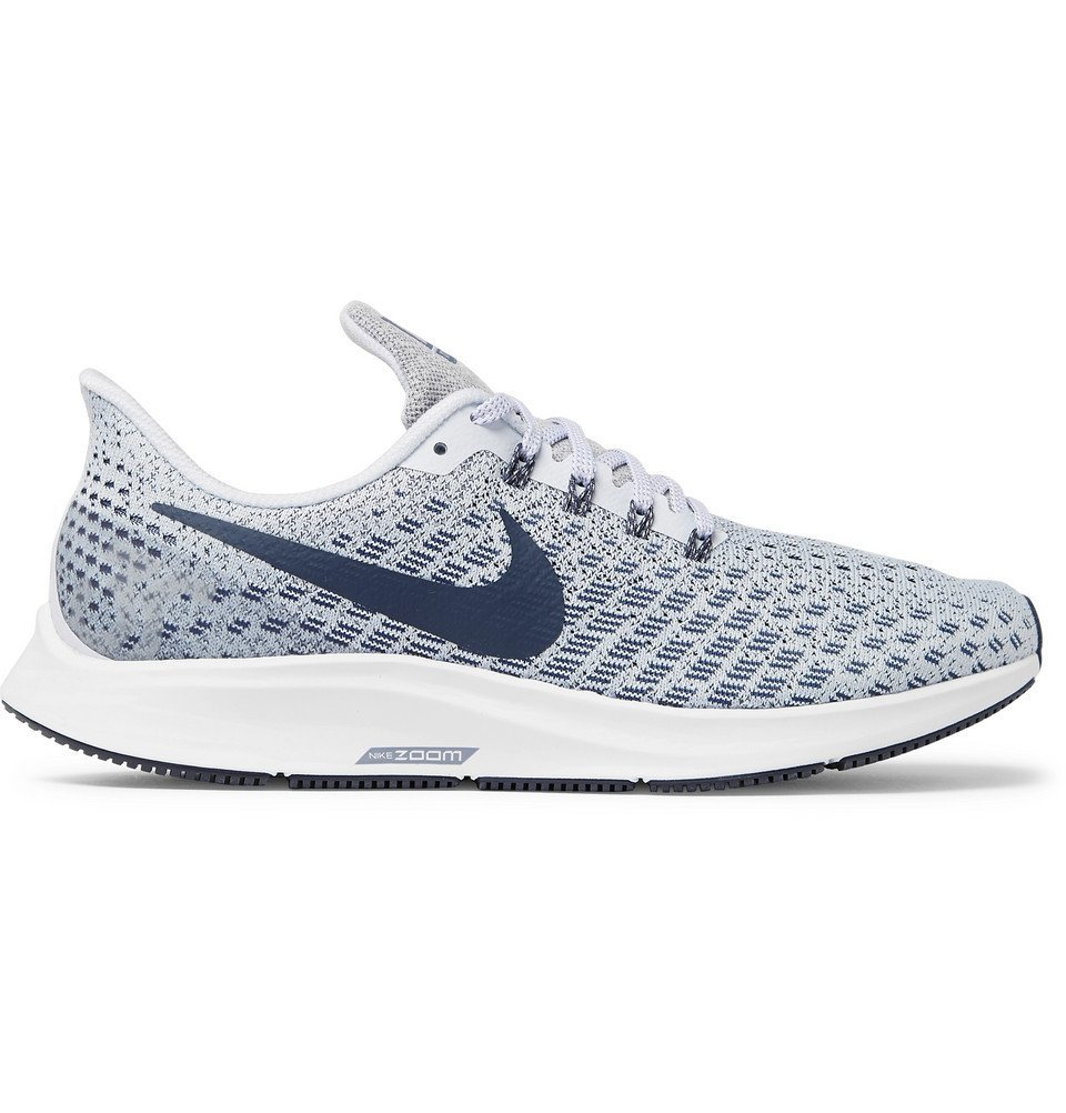 Nike Running - Air Zoom Pegasus 35 Mesh Running Sneakers - Men - Light gray
