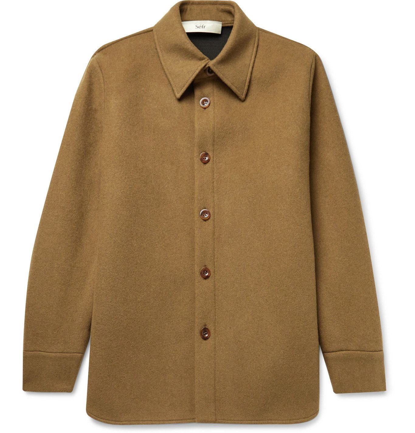 Photo: Séfr - Mats Woven Overshirt - Brown
