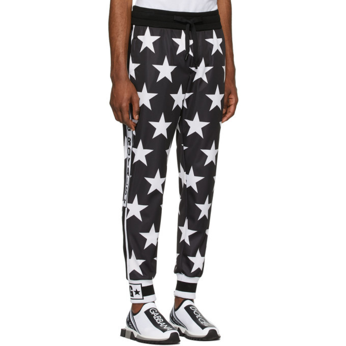 Dolce and Gabbana Black Millennial Star Lounge Pants