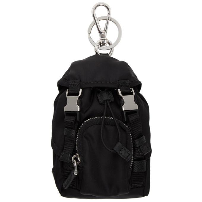 Photo: Prada Black Mini Backpack Keychain