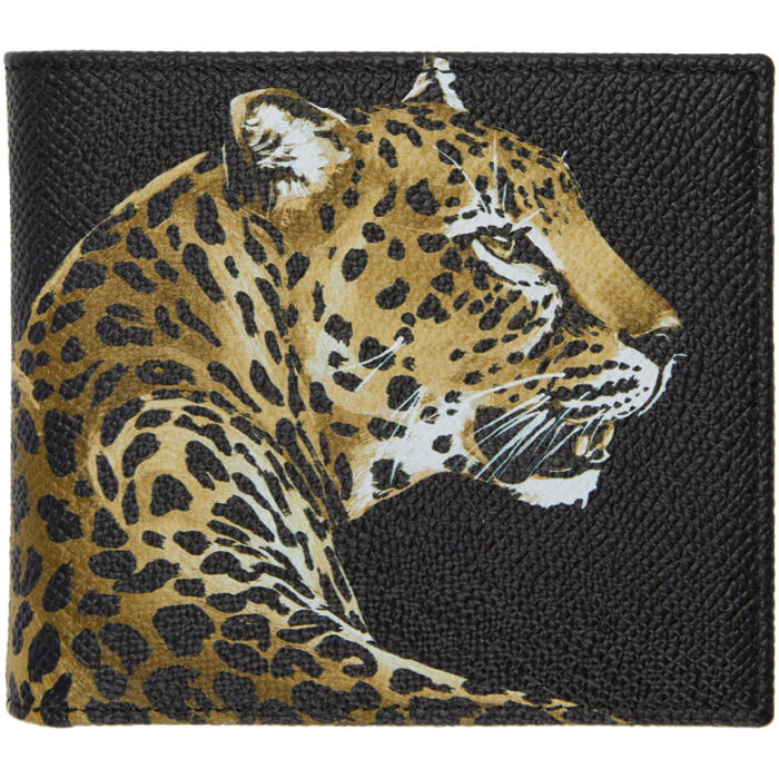 Photo: Dolce and Gabbana Black Leopard Wallet