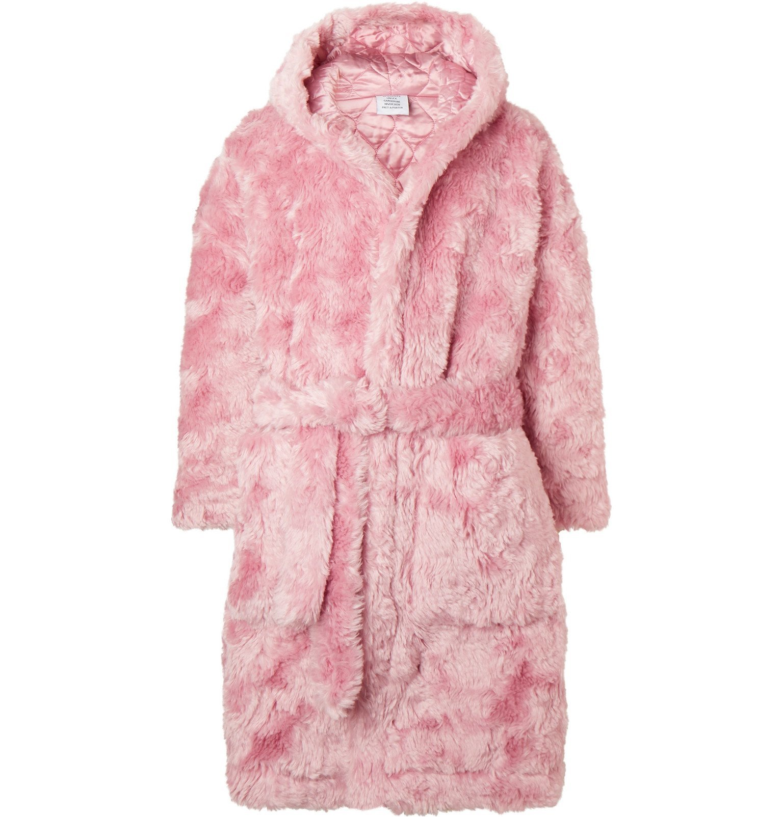Photo: VETEMENTS - Printed Faux-Fur Coat - Pink