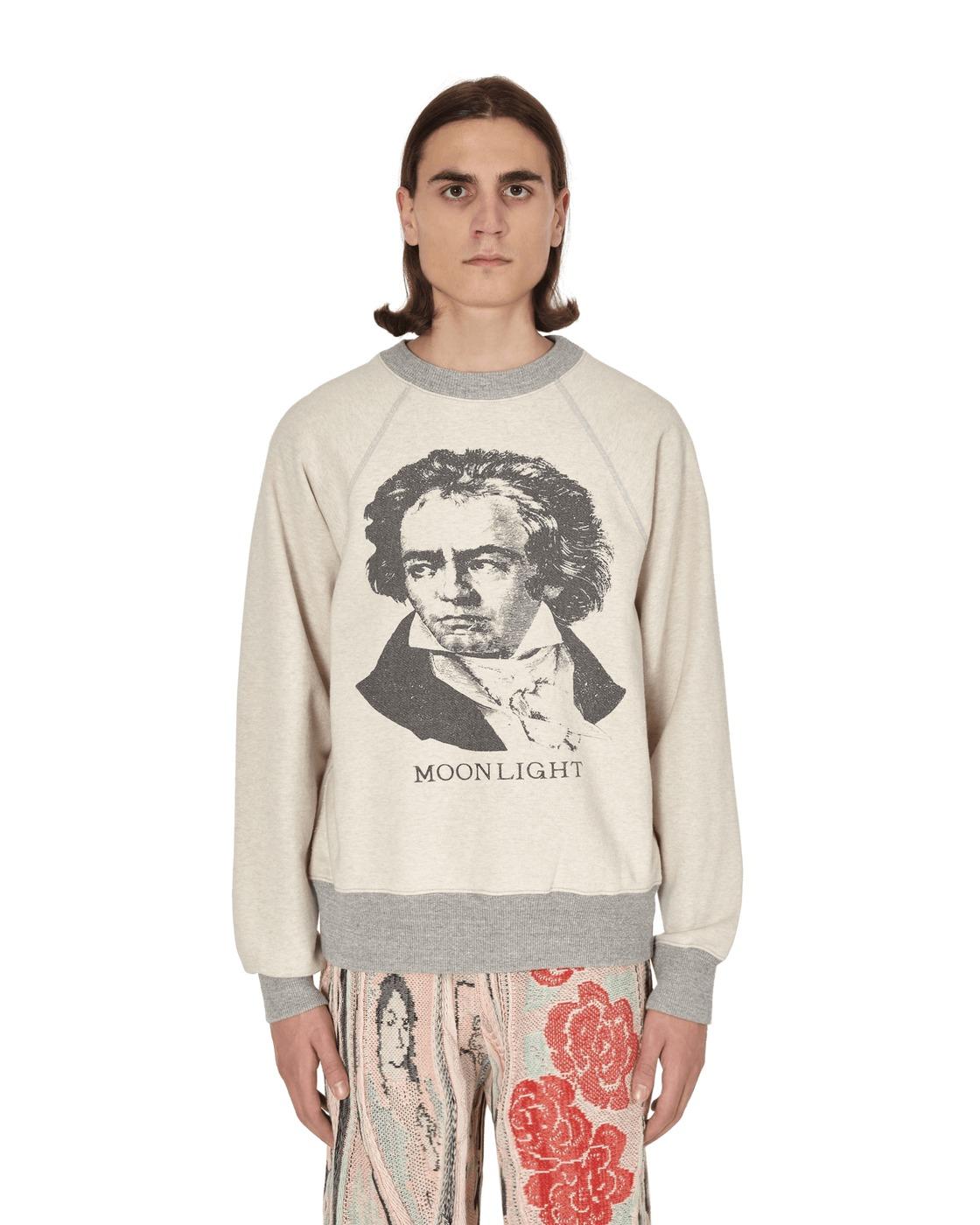 Kapital Beethoven Moonlight Crewneck Swatshirt Ecru