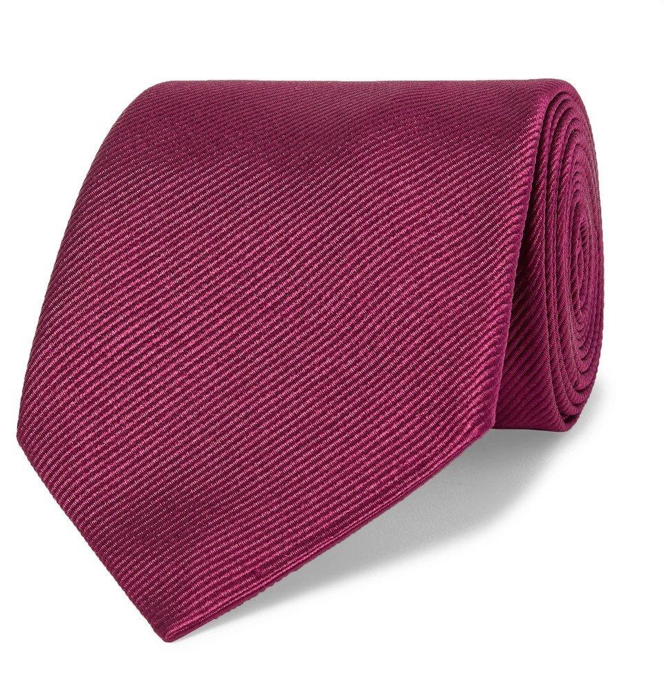 Giorgio Armani - 8cm Silk-Twill Tie - Men - Burgundy