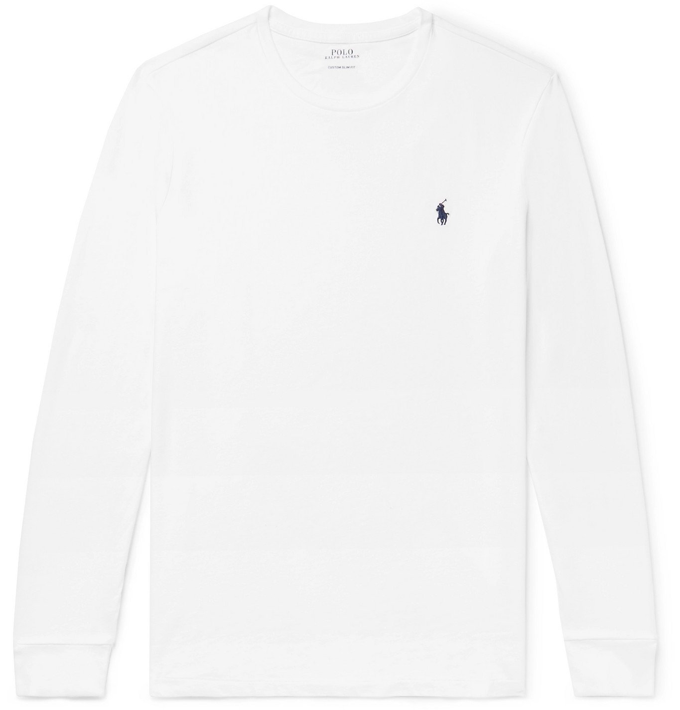 Photo: POLO RALPH LAUREN - Slim-Fit Cotton-Jersey T-Shirt - White