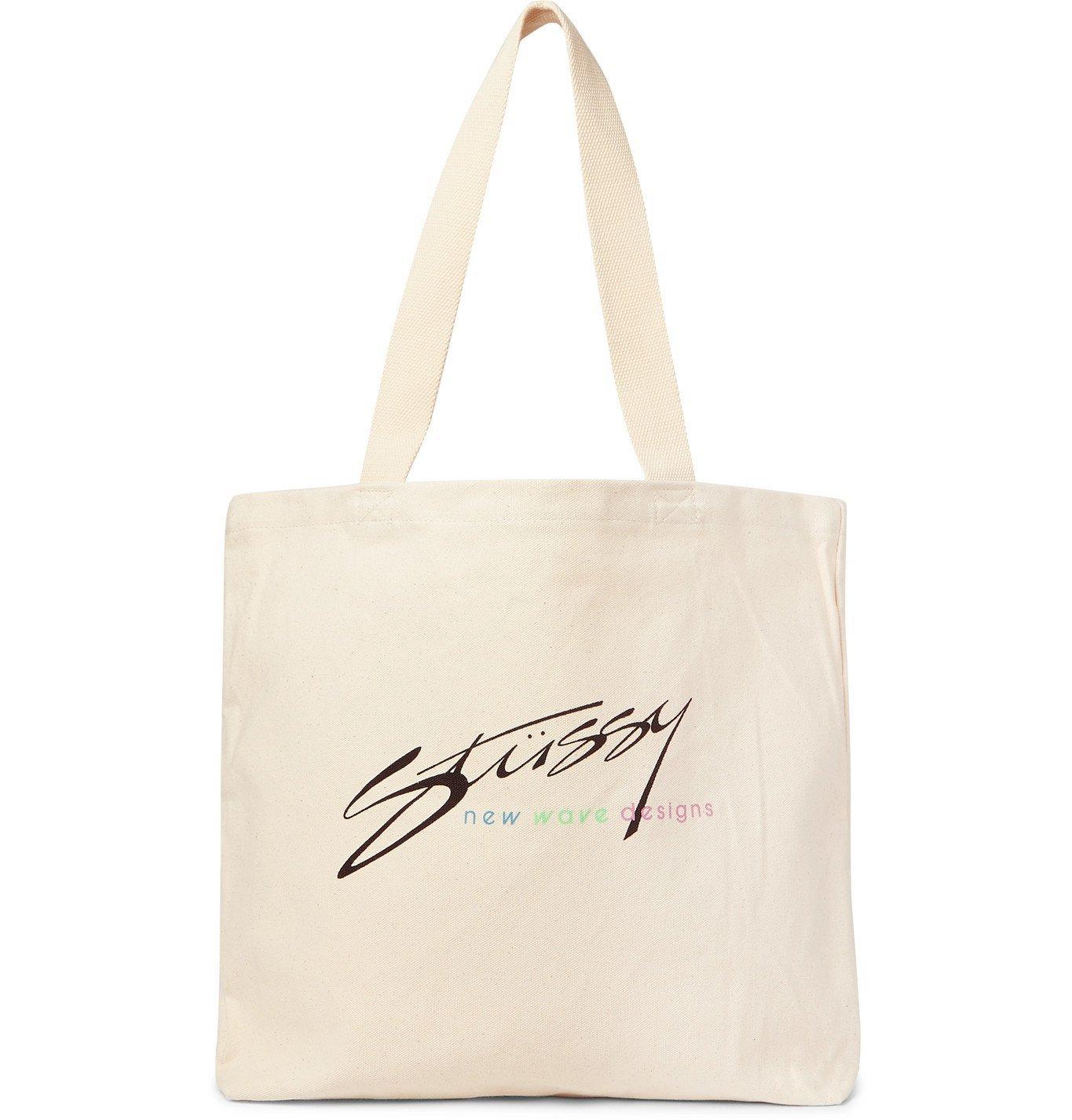 Photo: Stüssy - Logo-Print Cotton-Canvas Tote Bag - Neutrals