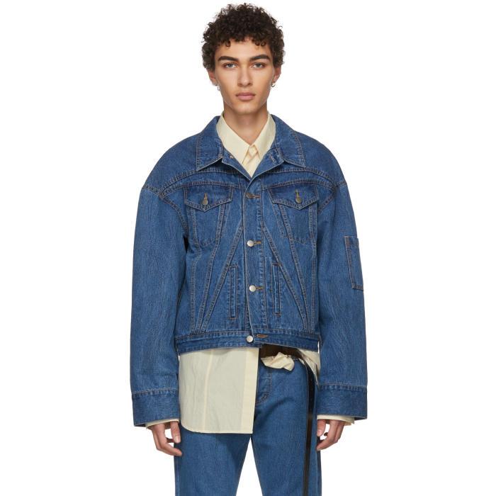 Photo: Chin Mens Blue Cropped Denim Jacket