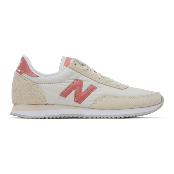 Photo: New Balance Off-White and Pink 720 Sneakers