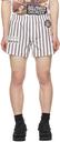 Raf Simons White Striped Patch Boxer Shorts