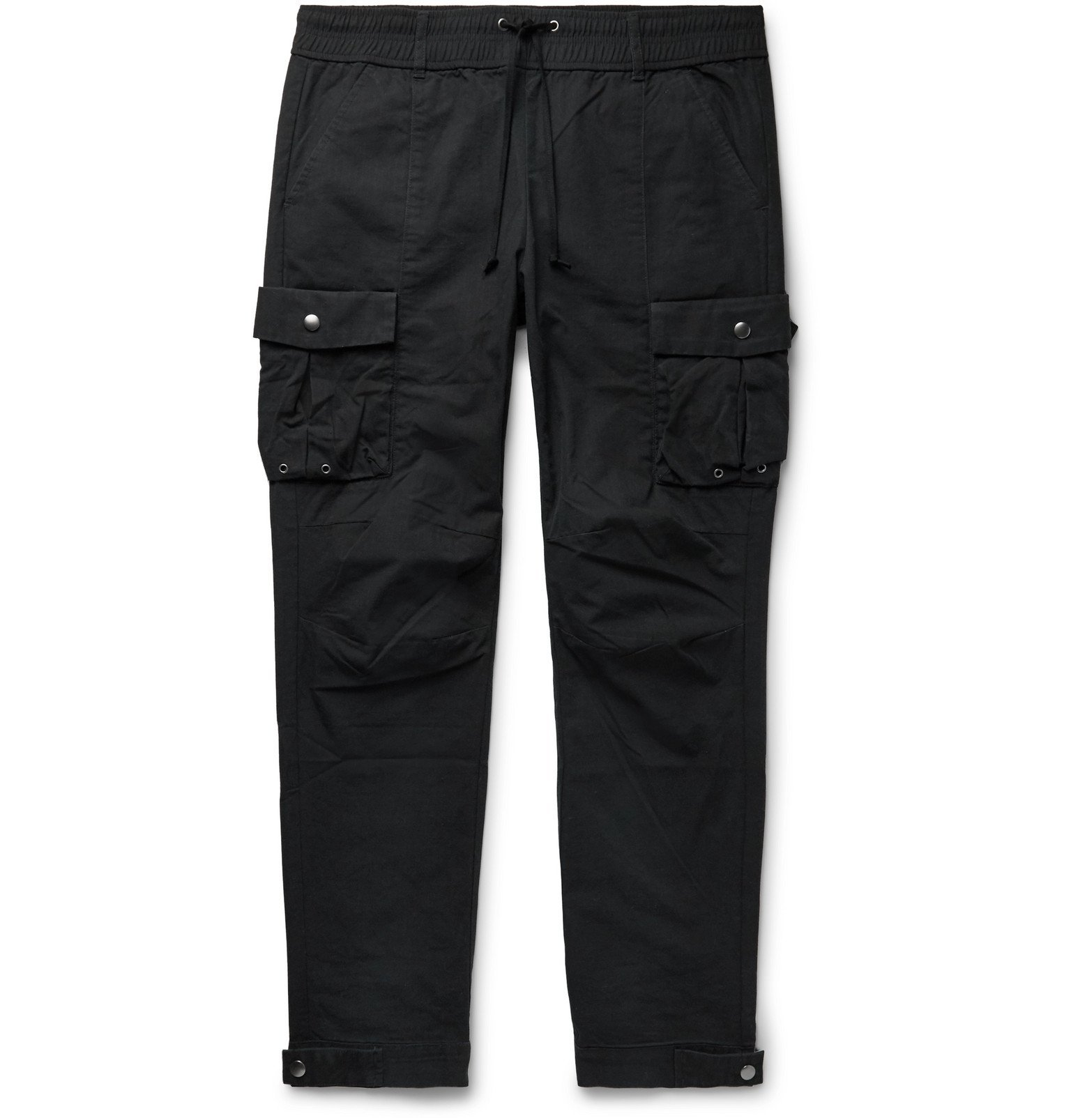Photo: John Elliott - Black Panorama Slim-Fit Cotton-Ripstop Cargo Trousers - Black