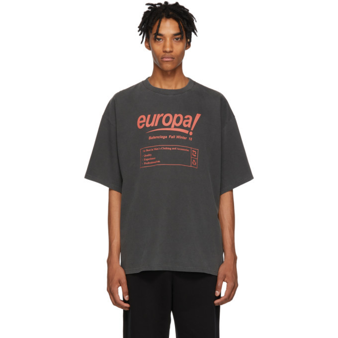 Photo: Balenciaga Black Europa T-Shirt