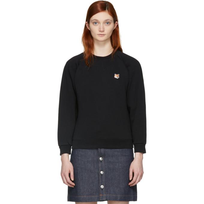 Photo: Maison Kitsune Black Fox Head Patch Sweatshirt