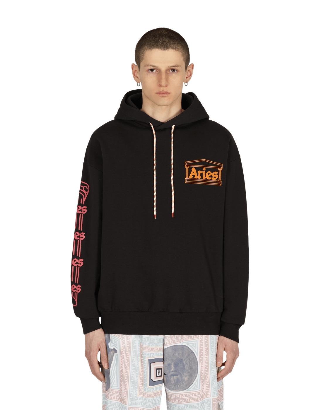 Aries Column Hooded Sweatshirt Black