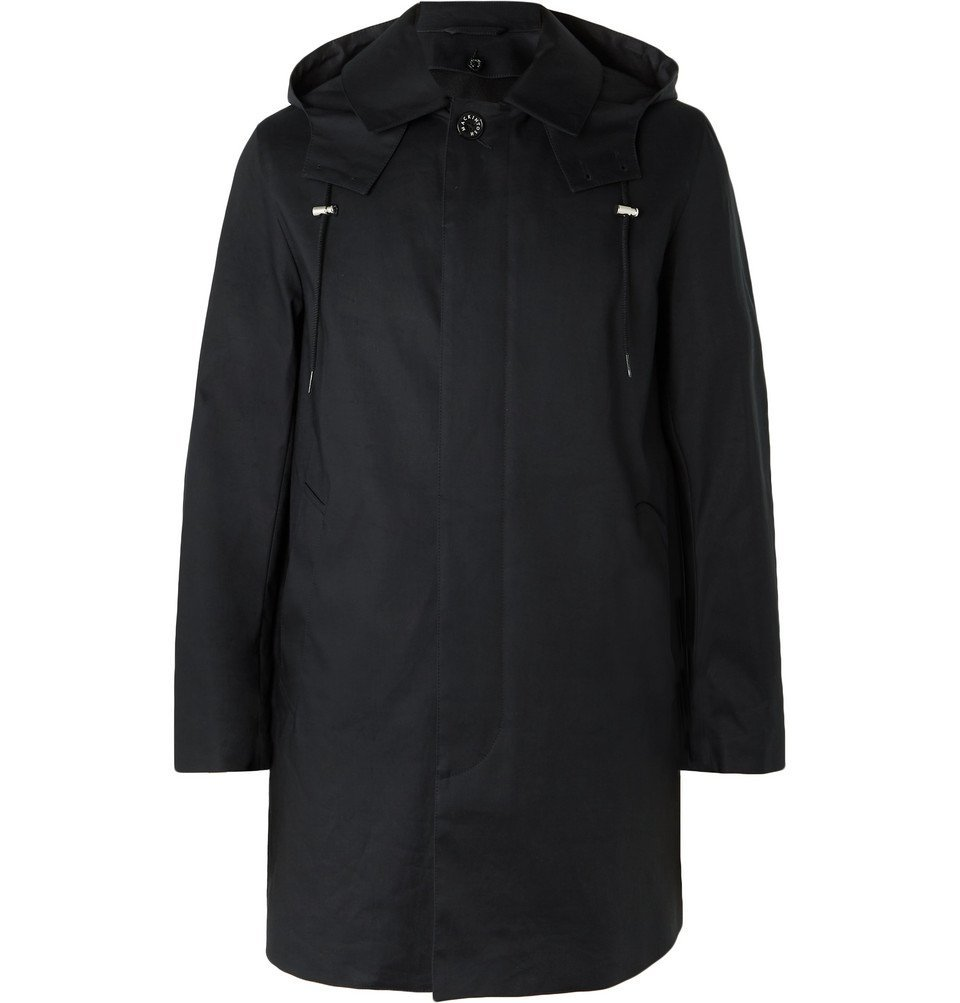 Photo: Mackintosh - Bonded Cotton Hooded Raincoat - Midnight blue
