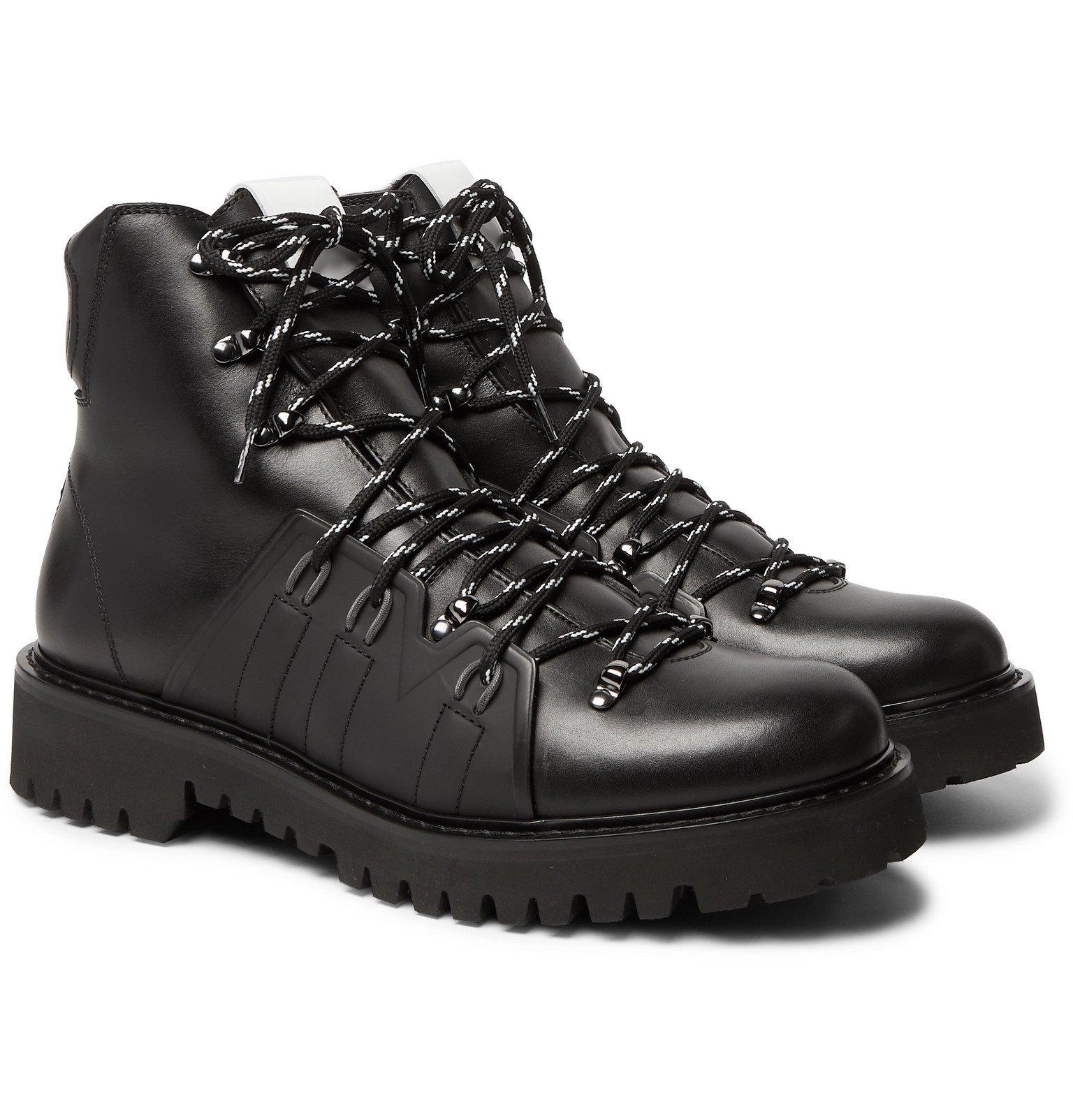 Photo: Valentino - Valentino Garavani Urgan Shearling-Lined Rubber-Trimmed Leather Boots - Black