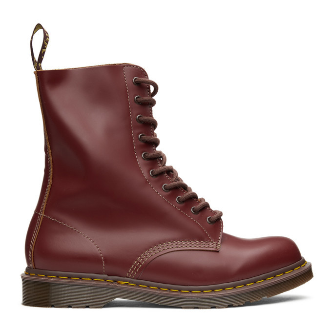 Photo: Dr. Martens Red Made In England Vintage 1490 Boots