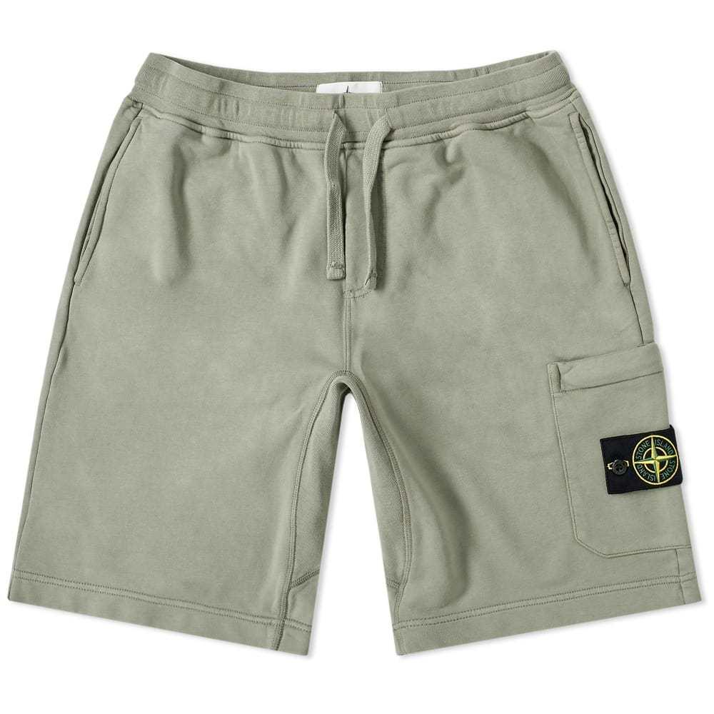 Photo: Stone Island Garment Dyed Sweat Short Olive
