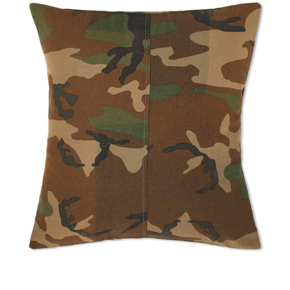 Photo: Maharishi Upcycled Camo Cushion