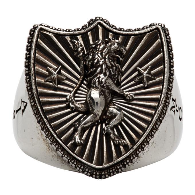 Photo: Alexander McQueen Silver Lion Shield Ring