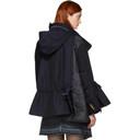 Sacai Navy Melton Hooded Jacket