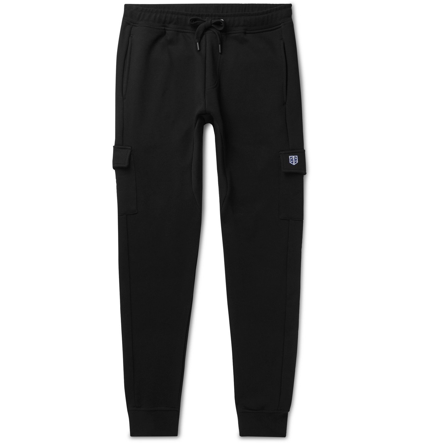 Photo: Schiesser - Karl Slim-Fit Tapered Cotton-Jersey Sweatpants - Black