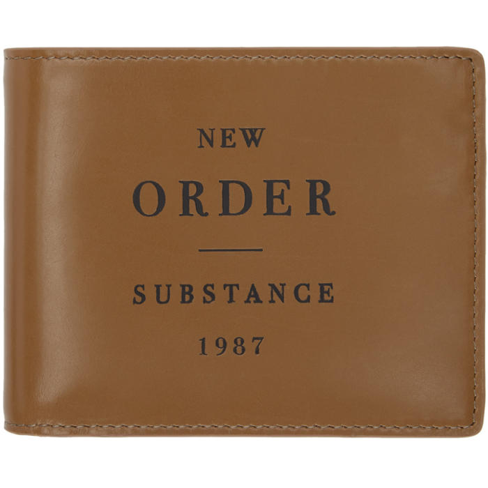 Photo: Raf Simons Brown New Order Substance Wallet