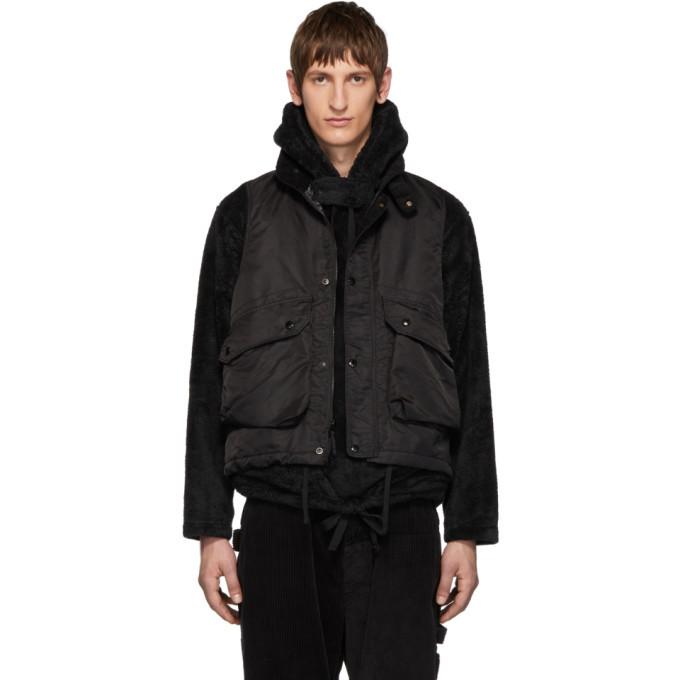Photo: Engineered Garments Black Twill Field Vest