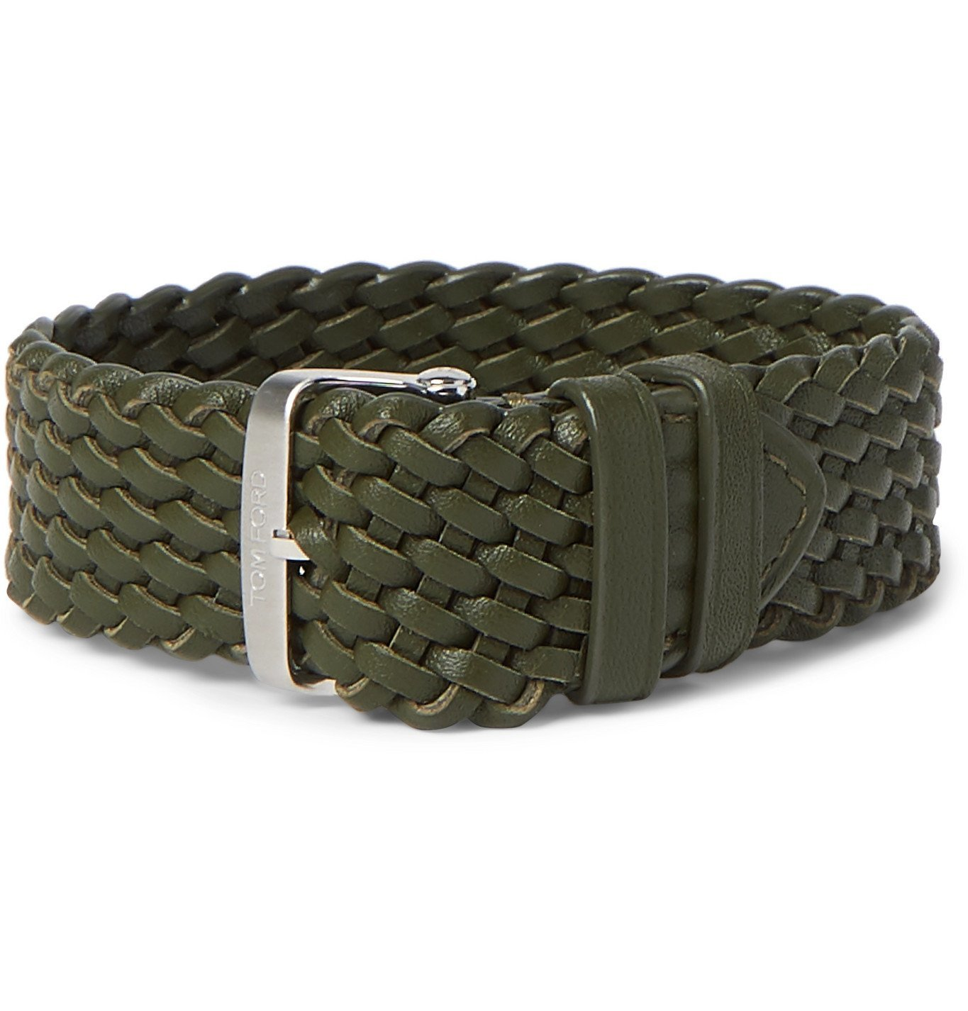 Photo: Tom Ford Timepieces - Braided Leather Watch Strap - Green