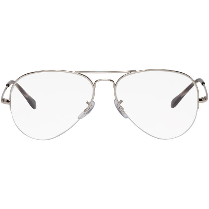 Photo: Ray-Ban Silver Gaze Aviator Glasses