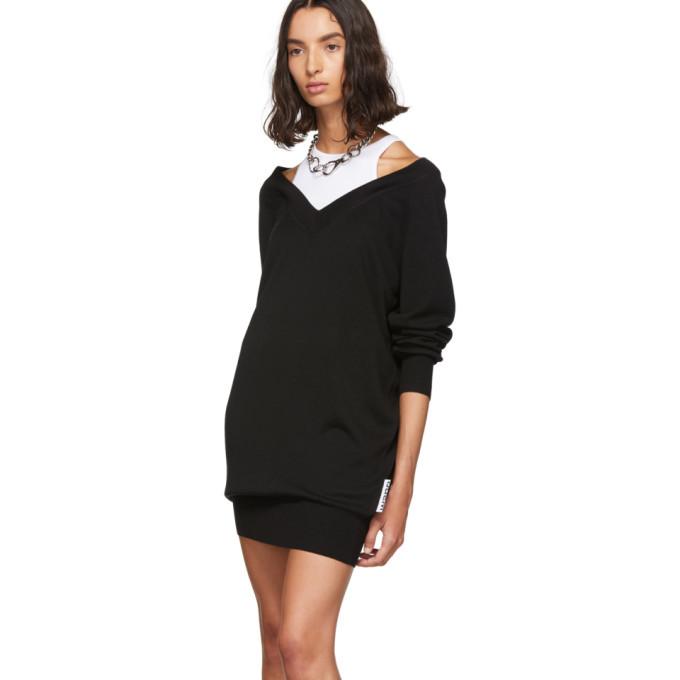 alexanderwang.t Black and White Bi-Layer Sweater Dress