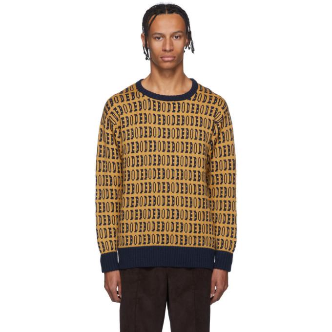 Photo: Bode Yellow Signature Sweater