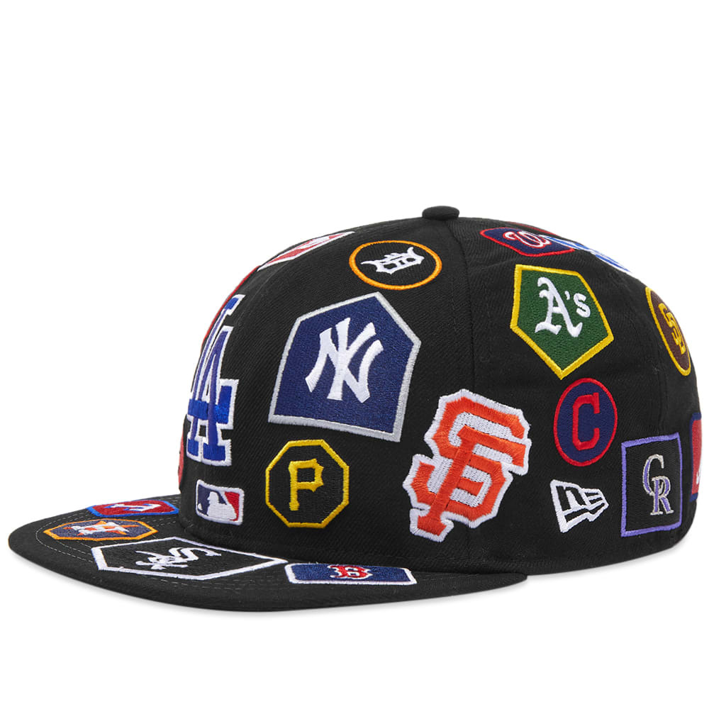 Photo: New Era MLB All-Over Logo 59Fifty Fitted Cap