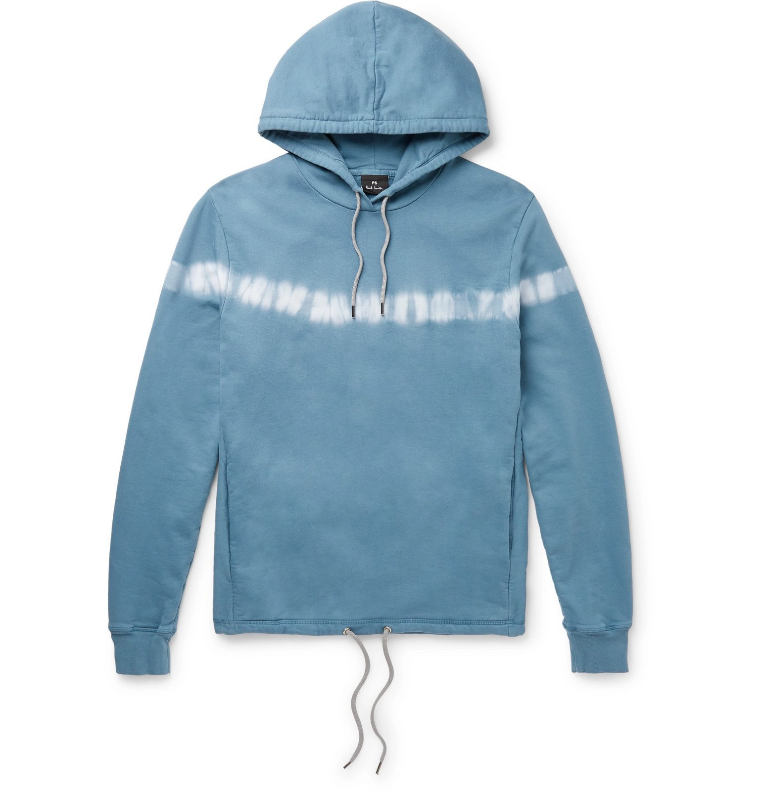 Photo: PS Paul Smith - Tie-Dyed Loopback Cotton-Jersey Hoodie - Blue